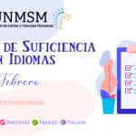Examen de Suficiencia Extraordinario (febrero)