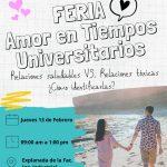 Feria «Amor en tiempos universitarios»