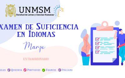 Examen de Suficiencia en Idiomas Marzo 2020