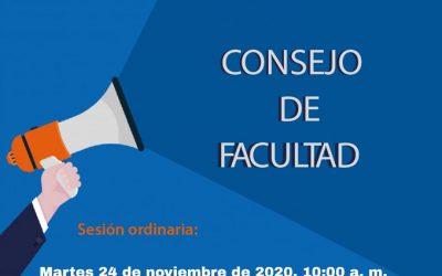 Consejo de Facultad – 24 de Noviembre