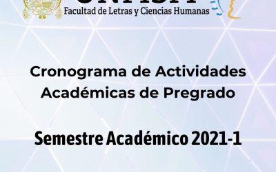 Cronograma Semestre Académico 2021-1