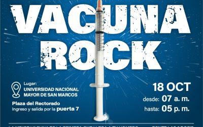 Únete al #VacunaRock, primer festival de vacunación en la UNMSM 💉